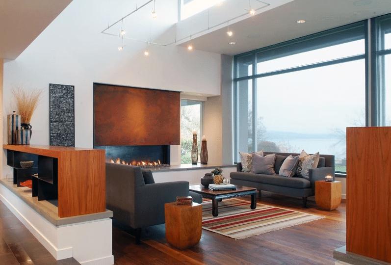 Project: Custom Home Builder Bellingham WA- Living Room